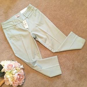 LOFT New with Tags Light Green Crop Pants